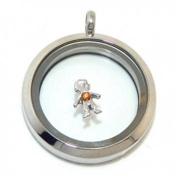 "Jewelry Monster ""Boy w/ Birthstone Crystal"" for Floating Charm Lockets LF0156 - CV11V65ACHF"