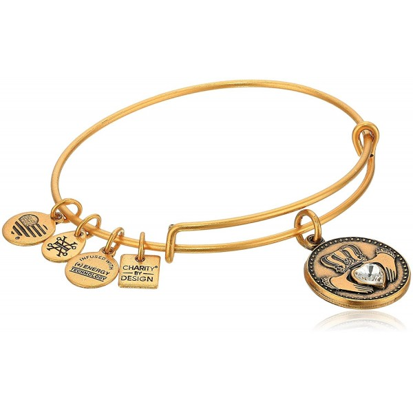 Alex and Ani Charity By Design- Claddagh Bangle Bracelet - Rafaelian Gold - C912NU8Y97F