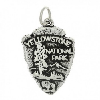 Sterling Silver Oxidized One Sided Yellowstone National Park Charm - CC115X5CU3J
