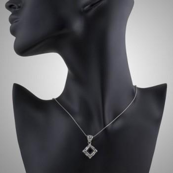 Sterling Filigree Gemstone Pendant Necklace in Women's Pendants