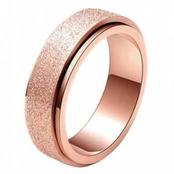 ALEXTINA Womens Stainless Spinner Finish - stainless-steel-rose gold-6mm - C2182OW7LQD