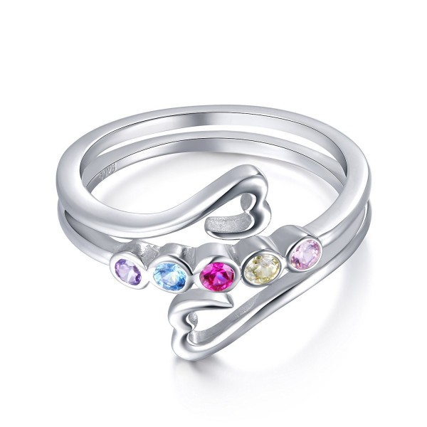 S925 Sterling Silver Multi-color Rainbow Ring And Bracelet - CC184EZOLN4