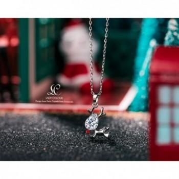 Valentines Reindeer Necklace Swarovski Granddaughter in Women's Pendants