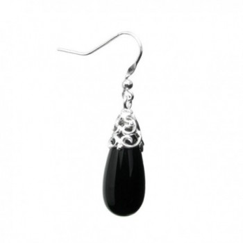 Sterling Natural Teardrop Filigree Earrings