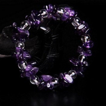 Amethyst Bracelet Healing Precious Handmade in Women's Stretch Bracelets