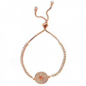 Bala Adjustable Zirconia Bracelet Simulated - Rose Gold-PR02 - CR182T22O93
