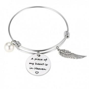 A Piece of my heart is in heaven Bracelet Memorial Gift Miscarriage bracelet Memorial Jewelry - Bracelet - C51879SU5E9