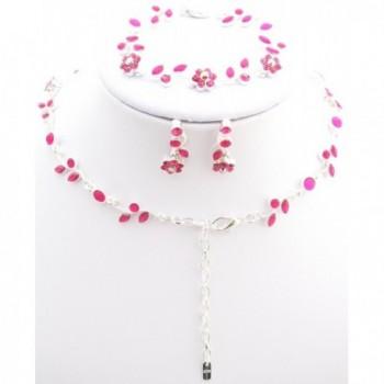 Affordable Fuchsia Bridesmaid Necklace Bracelet