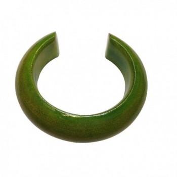 Beautiful Handmade Environmentally Friendly Mango Wood Bangle Bracelet - Size Small - Color Lemongrass - CZ121AH0417