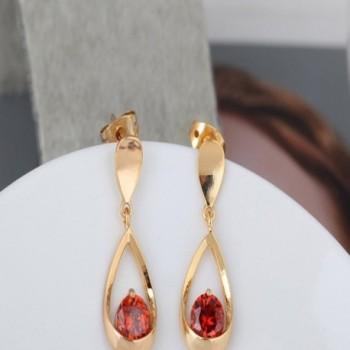 YAZILIND Elegant Zirconia Waterdrop Earrings