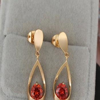 YAZILIND Elegant Zirconia Waterdrop Earrings in Women's Drop & Dangle Earrings