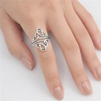 Fashion Abstract Sterling Silver RNG14974 7