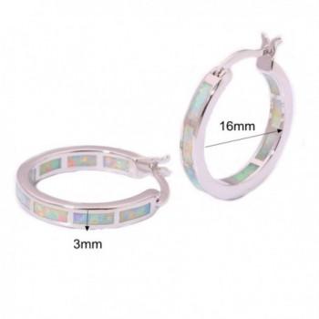 CiNily Rhodium Created Gemstone Earrings in Women's Hoop Earrings