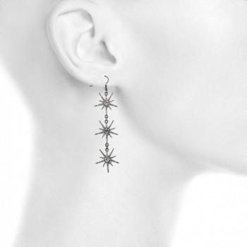 Lux Accessories Hematite Rhinestone Starburst