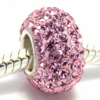 Pro Jewelry 925 Sterling Silver Birthstone June Lt Pink Crystal Bead - C411LSRIXHD
