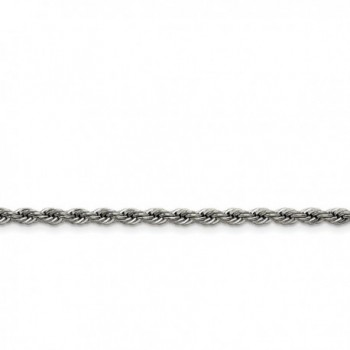 Chisel Stainless Steel 4.0mm Rope Chain Necklace - Length Options: 18 20 22 24 30 - CP115WUTBTB