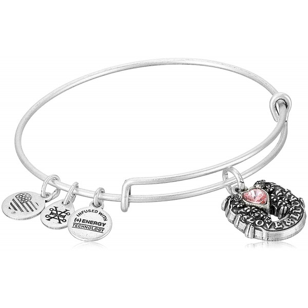 Alex and Ani Fortune's Favor Bangle Bracelet - Rafaelian Silver - C112O5M2TB6