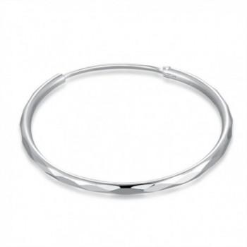 MBLife Sterling Diamond Cut Earrings Diameter