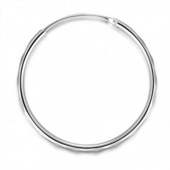 MBLife Sterling Diamond Cut Earrings Diameter in Women's Hoop Earrings