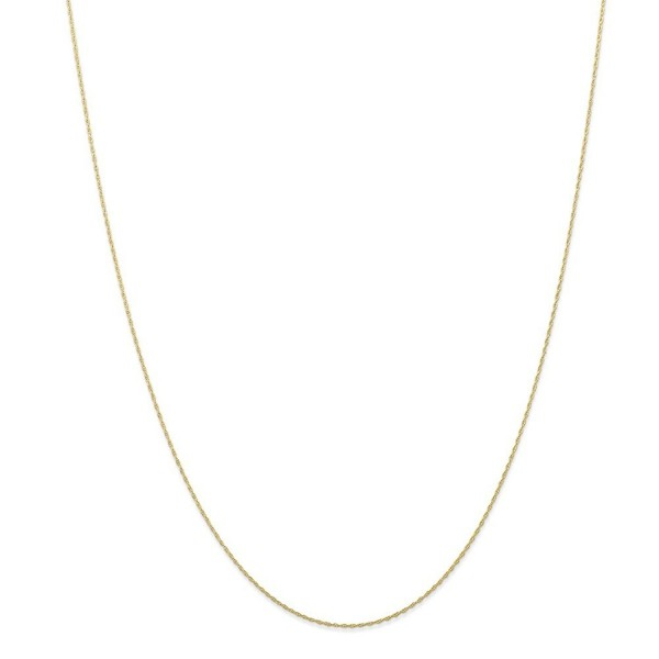 10k Yellow Gold Thin 24in Carded Cable Rope Necklace Chain - CQ119CBCCLP