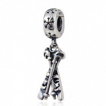 Choruslove Dangle Skis Charm Sport Bead for European Bracelet Christmas Gift - C9128WU0JJ3