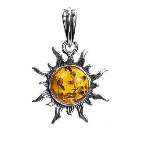 GIFT BOXED BALTIC AMBER STERLING SILVER 925 WOMEN/'S PENDANT JEWELLERY JEWELRY
