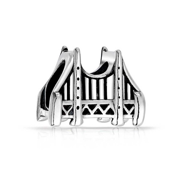 Bling Jewelry Golden Gate Bridge Charm San Francisco 925 Sterling Silver Vacation Charms - C811BC3ZGFP