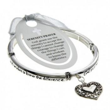 PammyJ Silvertone Detailed Serenity Bracelet