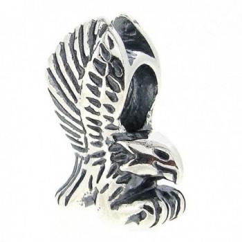 Sterling Silver Eagle European Bead Charm - CO11D29N1D1