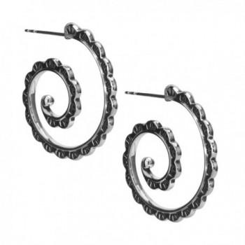 American West Sterling Silver Hoop Earrings - CN12O0J000W