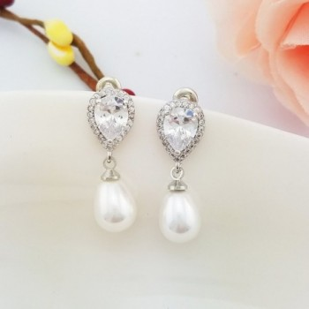 SELOVO Teardrop Simulated Earrings Zirconia