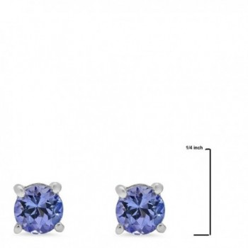 Tanzanite Earrings Sterling Silver Genuine