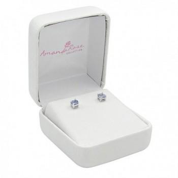 Tanzanite Earrings Sterling Silver Genuine in Women's Stud Earrings