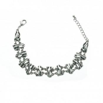 Antique Silver Plated Link Bracelet