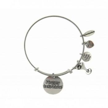 Happy Retirement Silver Expandable Bracelet