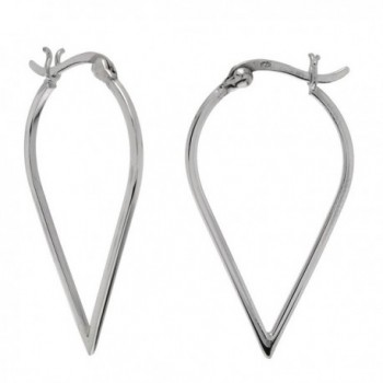 Large Arrow Teardrop Sterling Silver Hoops Earrings - C711999K7MV