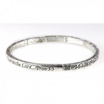 4030898 Proverbs 3:5 Stretch Bracelet Stackable Stacking Scripture Trust In The Lord - CS11DRSN3B7