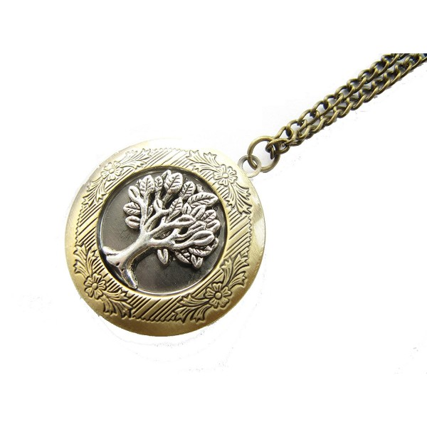 Tree of Life Locket Necklace-family Tree Locket Pendant- Nature Locket Jewelry - C8128ZUU59J