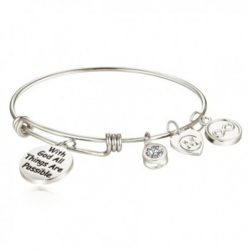 Inspirational Bracelets Engraved Possible Religious - White Gold - CY186XQQ9DR