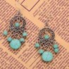 YAZILIND Green Dangle Earrings vintage