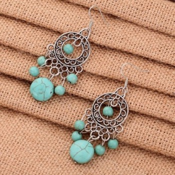 YAZILIND Green Dangle Earrings vintage in Women's Drop & Dangle Earrings