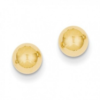 Designs by Nathan- Classic 14K Yellow Gold Round Ball and Post Stud Earrings- Many Sizes - CO12EEBTK9J