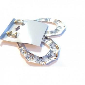Clip Earrings Bamboo Silver Teardrop in Women's Clip-Ons Earrings