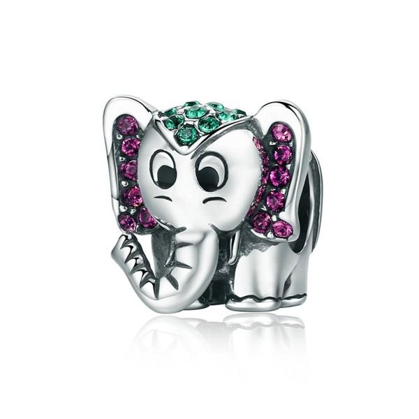 Elephant Sterling European Bracelet Sparkling - Sparkling Lucky Elephant - CJ1895NIUAN