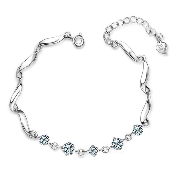 Oudin Women's 925 Sterling Silver Zircon Chain Bracelet - CR1296NIZP5