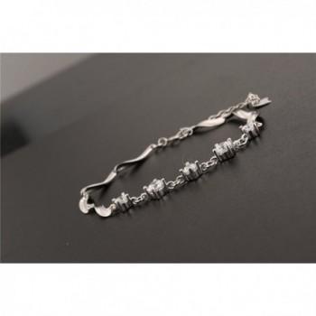 Womens Sterling Silver Zirconia Bracelet in Women's Link Bracelets