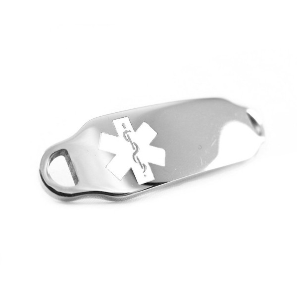 MyIDDr - Medical Alert Identification Tag- Can be Attached to an ID Bracelet- White Symbol - CM116JA28KB