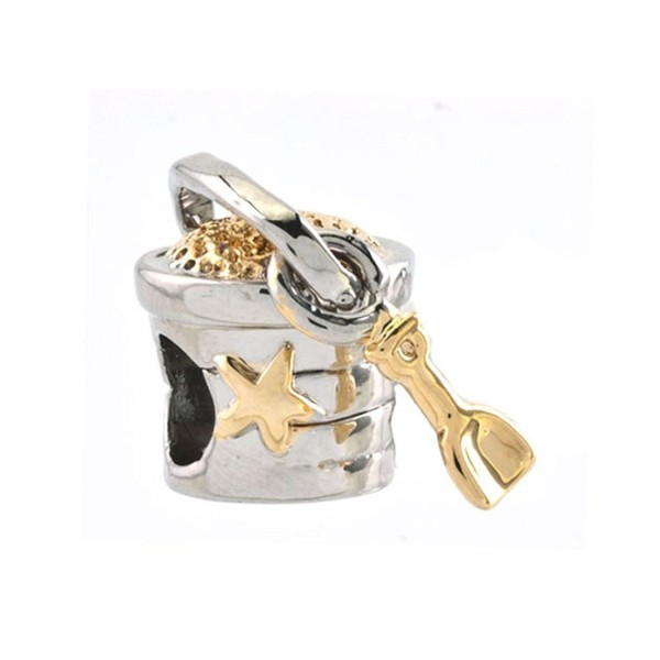 CharmsStory Golden Star Bucket Shovel Charms Beads Charm For Bracelets - CW125X7WWG1