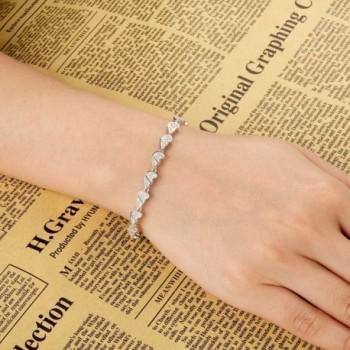 EVER FAITH Sterling Gorgeous Bracelet in Women's Tennis Bracelets