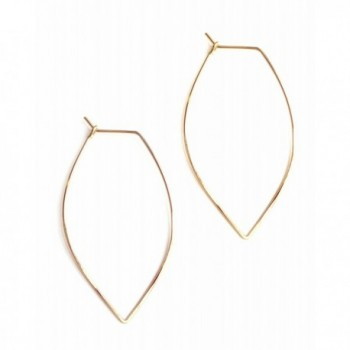 April Soderstrom Featherweight Small Leaf Hoop Earrings - CR182WA3K5G